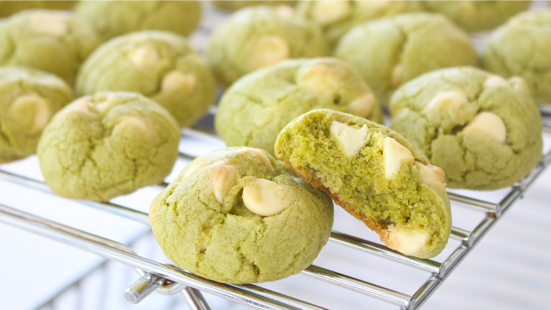 Green Tea Cookies With White Chocolate Chips